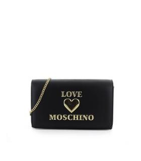 CLUTCH NERA LOGO LOVE MOSCHINO