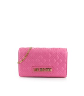 CLUTCH QUILTED NAPPA ROSA LOVE MOSCHINO
