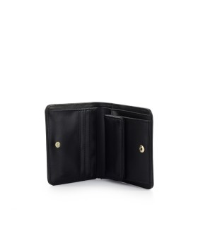 LOVE MOSCHINO BLACK SMALL WALLET WITH LOGO