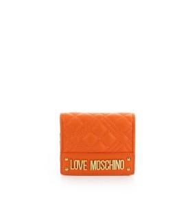 LOVE MOSCHINO QUILTED ORANJE KLEINE PORTMONNEE