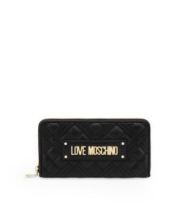 LOVE MOSCHINO QUILTED BLACK PORTMONNEE