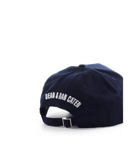 DSQUARED2 LOGO PATCH MARINEBLAUWE BASEBALL CAP