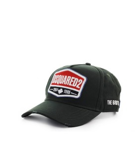 DSQUARED2 LOGO PATCH DARK GREEN BASEBALL CAP