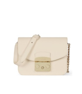 FURLA METROPOLIS S CREAM CROSSBODY BAG