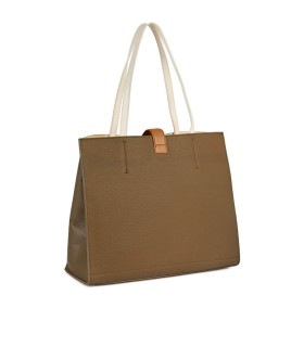 FURLA SOFIA MUD SHOPPING BAG