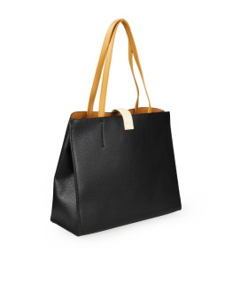 FURLA SOFIA BLACK SHOPPING BAG