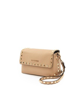 LA CARRIE STUDS LUCY BEIGE CROSSBODY BAG