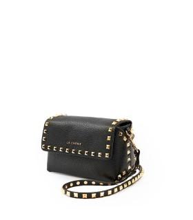 LA CARRIE STUDS LUCY BLACK CROSSBODY BAG