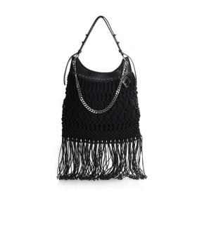 LA CARRIE CROSSROADS BLACK SHOPPING BAG