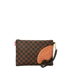 SPRAYGROUND HENNY BROWN CLUTCH BAG
