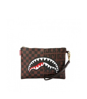 SPRAYGROUND SPLIT THE CHECK CLUTCH BAG