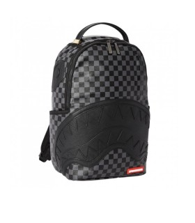 SPRAYGROUND HENNY CHECKERED SHARKMOUTH BLACK BACKPACK