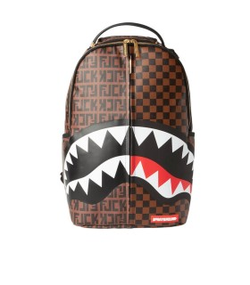 SPRAYGROUND SPLIT THE CHECK BROWN BACKPACK