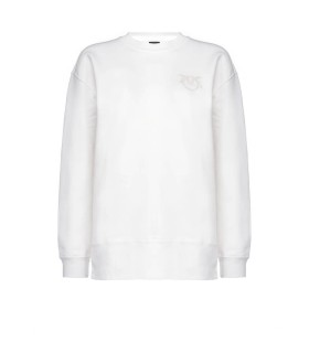 PINKO SANO WHITE COTTON SWEATSHIRT