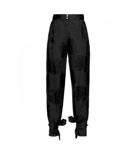 PINKO QUIETO 1 BLACK FLOREAL PANTS