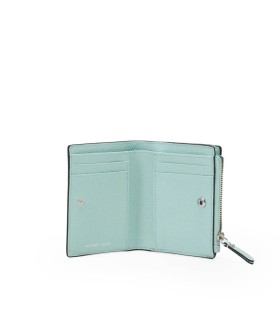 MICHAEL KORS JET SET MEDIUM AQUA GREEN WALLET
