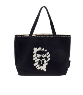KARL LAGERFELD K/IKONIK GRAFFITI REVERSIBLE SHOPPING BAG