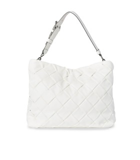 KARL LAGERFELD K/KUSHION BRAID WITTE SHOPPER