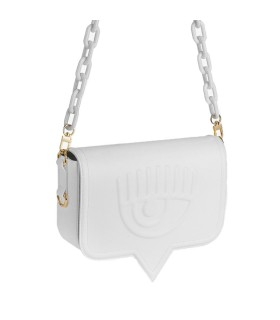 CHIARA FERRAGNI EYELIKE WHITE LARGE CROSSBODY BAG