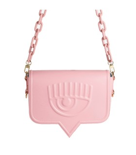 CHIARA FERRAGNI EYELIKE PINK LARGE CROSSBODY BAG