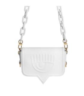 CHIARA FERRAGNI EYELIKE WHITE SMALL CROSSBODY BAG