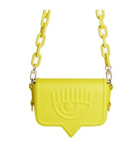 CHIARA FERRAGNI EYELIKE YELLOW SMALL CROSSBODY BAG