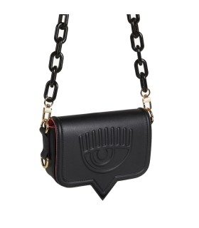 CHIARA FERRAGNI EYELIKE BLACK SMALL CROSSBODY BAG