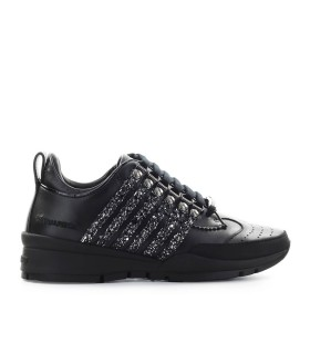 DSQUARED2 251 BLACK GLITTER SNEAKER