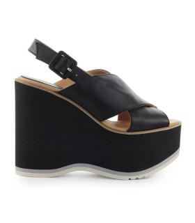 PALOMA BARCELÓ MAZARUNI BLACK WEDGE SANDAL