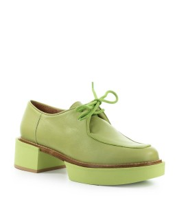 PALOMA BARCELÓ ITUXI LIME GREEN LACE UP