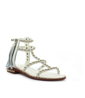ASH POWER IVORY FLAT SANDAL