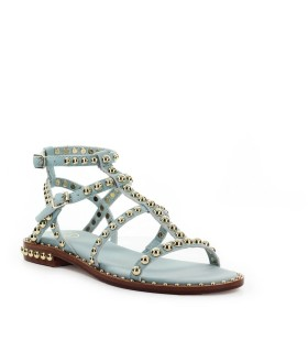 ASH PRECIOUS LIGHT BLUE FLAT SANDAL