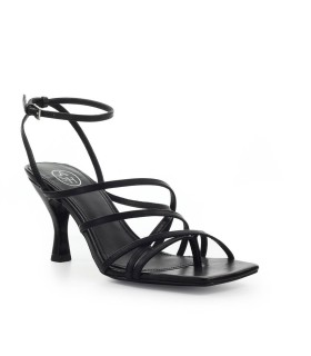 ASH MAYA BLACK HEELED THONG SANDAL
