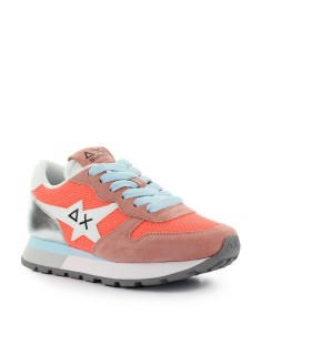 SUN68 ALLY STAR BASIC CORAL ZILVER SNEAKER