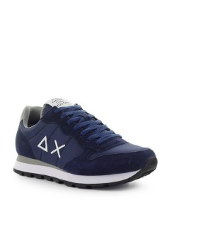 SUN68 TOM SOLID NYLON NAVY BLUE GREY SNEAKER
