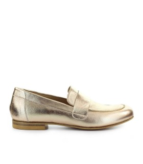 STRATEGIA GOLD LEATHER LOAFER