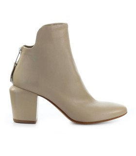 ELENA IACHI BEIGE LEATHER ANKLE BOOT