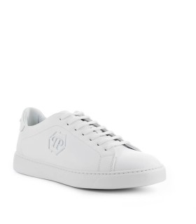 PHILIPP PLEIN LO-TOP HEXAGON WHITE SNEAKER