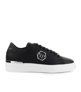 SNEAKER LO-TOP HEXAGON NERO ARGENTO PHILIPP PLEIN