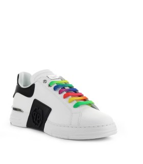 PHILIPP PLEIN PHANTOM KICK$ LO-TOP WHITE SNEAKER