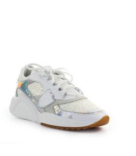 PHILIPPE MODEL EZE GLITTER WHITE SNEAKER