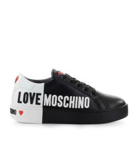 SNEAKER LOGO BIANCO NERO LOVE MOSCHINO