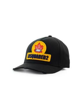 DSQUARED2 D2 PATCH ZWART BASEBALL CAP
