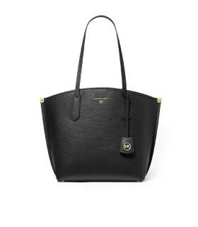 MICHAEL KORS JANE BLACK SHOPPING BAG