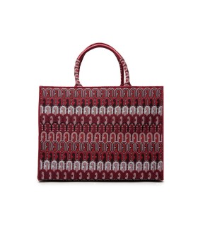 FURLA OPPORTUNITY RED SHOPPING BAG