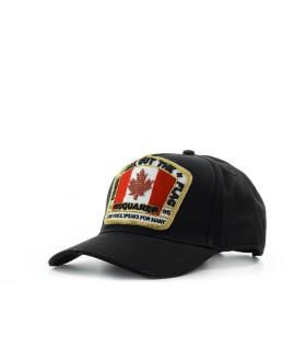 CAPPELLO DA BASEBALL CANADIAN FLAG NERO DSQUARED2