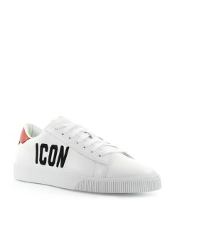 BASKETS ICON CASSETTA BLANC ROUGE DSQUARED2