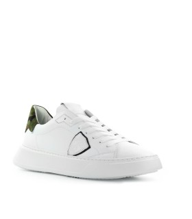 PHILIPPE MODEL TEMPLE CAMOUFLAGE WHITE SNEAKER