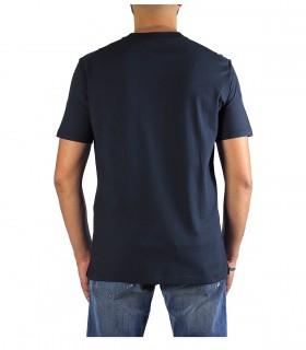 PAOLO PECORA NAVY BLUE COTTON T-SHIRT