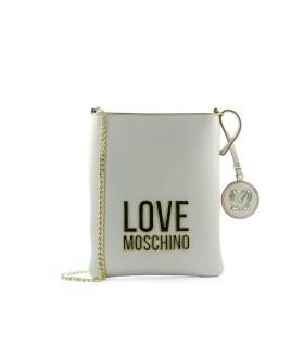 LOVE MOSCHINO BONDED ELFENBEIN GOLD UMHÄNGETASCHE